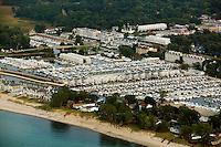aerial photograph marina New Buffalo, Michigan