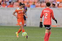 Houston, TX - Sunday Sept. 11, 2016: Carli Lloyd during a regular season National Women's Soccer League (NWSL) match between the Houston Dash and the Boston Breakers at BBVA Compass Stadium.