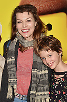 WESTWOOD, CA - FEBRUARY 02: Milla Jovovich and family attend the Premiere Of Warner Bros. Pictures' 'The Lego Movie 2: The Second Part' at Regency Village Theatre on February 2, 2019 in Westwood, California.<br /> CAP/ROT/TM<br /> &copy;TM/ROT/Capital Pictures
