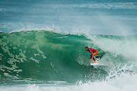 LA GRAVIERE, Hossegor/France (Friday, September 28, 2012)  Taj Burrow (AUS). - The opening nine Round 1 heats of the Quiksilver Pro France were completed today in clean three-to-five (1 - 1.5 metre) waves at the primary site of La Graviere...Event No. 7 of 10 on the 2012 ASP World Championship Tour season, the Quiksilver Pro France took advantage of solid barrels on offer this morning before calling competition off this afternoon as the swell subsided..Mick Fanning (AUS), 31, two-time ASP World Champion (2007, 2009) and current ASP WCT No. 1, took down an in-form Wiggolly Dantas (BRA), 22, and Travis Logie (ZAF), 33, in their Round 1 match-up, utilising his extensive tibe-riding abilities.. Photo: joliphotos.com