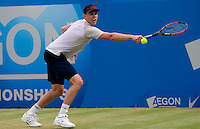 Sam Querrey (USA) against Rainer Schuettler (GER) in the semi-finals for the men's singles. Sam Querrey beat Rainer Schuettler 6-7 7-5 6-3...Tennis - ATP World Tour - AEGON Championships - Queen's Club - London - Day 6 - Sat 12 Jun 2010..© AMN Images - Level 1, Barry House, 20-22 Worple Road, London, SW19 4DH.Tel - +44 (0) 208 947 0100.email - mfrey@advantagemedianet.com. www.photoshelter.com/c/amnimages.