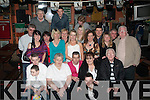 6250-6253.39 again : Patrick Cunningham, Bruach Na Habhann, Tralee (seated centre) had his 40th birthday bash last Saturday night in the Huddle bar, Strand St, Tralee with his wife Margaret on his left