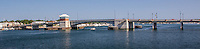 The Bay View Bridge in Sturgeon Bay Wisconsin.