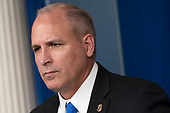 Acting commissioner of U.S. Customs and Border Protection Mark Morgan holds a news conference at the White House in Washington, DC, October 8, 2019. Credit: Chris Kleponis / Pool via CNP