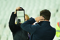 Sky Pundit Gary Neville during West Ham United vs Fulham, Premier League Football at The London Stadium on 22nd February 2019