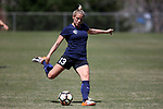 CARY, NC - APRIL 01: Courage's Abby Dahlkemper. The NWSL's North Carolina Courage played a preseason game against the Wake Forest Demon Deacons on April 1, 2017, at WakeMed Soccer Park Field 3 in Cary, NC. The Courage won the match 3-0.
