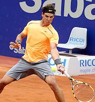 25.04.2012 Barcelona, Spain. ATP 500, Barcelona Open Banc Sabadell.  Rafa Nadal beat Guillermo Garcia-Lopez 6 1 - 6 2. Picture show Rafa Nadal