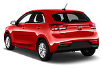 Car pictures of rear three quarter view of 2017 KIA Rio Fusion 5 Door Hatchback Angular Rear
