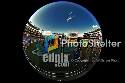 16 August 2008: A fisheye view of batting practice at Nationals Park in Washington, DC.  The visiting Colorado Rockies defeated the Nationals 13-6, handing the last place Nationals their 9th consecutive loss. ..Mandatory Photo Credit: Ed Wolfstein Photo