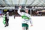 V&auml;ster&aring;s 2014-03-08 Bandy SM-semifinal 4 V&auml;ster&aring;s SK - Hammarby IF :  <br /> V&auml;ster&aring;s Ted Bergstr&ouml;m jublar efter matchen <br /> (Foto: Kenta J&ouml;nsson) Nyckelord:  VSK Bajen HIF jubel gl&auml;dje lycka glad happy