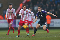 Matthew Godden of Stevenage and Oliver Lee of Luton Town during Stevenage vs Luton Town, Sky Bet EFL League 2 Football at the Lamex Stadium on 10th February 2018