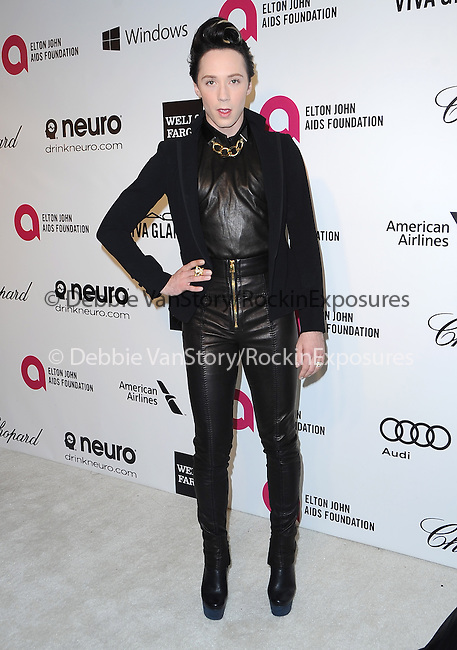 Johnny Weir attends the 2014 Elton John AIDS Foundation Academy Awards Viewing Party in West Hollyood, California on March 02,2014                                                                               © 2014 Hollywood Press Agency