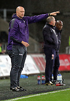 Pictured: Swansea coach John Toshack Monday 15 May 2017<br /> Re: Premier League Cup Final, Swansea City FC U23 v Reading U23 at the Liberty Stadium, Wales, UK