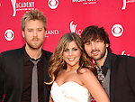Ckarles Kelley, Hillary Scott and Dave Haywood of Lady Antebellum at the 2008 ACM Awards at MGM Grand in Las Vegas, May 18 2008.