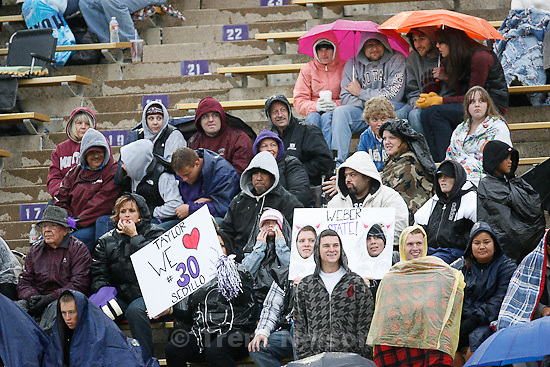 Trent Nelson  |  The Salt Lake Tribune. during the second half, Weber State vs. Montana, college football Saturday, October 30, 2010.
