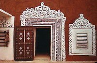 World Civilization:  African Adobe Architecture--A Courtyard in Walata, Mauritania.  Bourgeois & Pelos, SPECTACULAR VERNACULAR, 1989, p. 73.