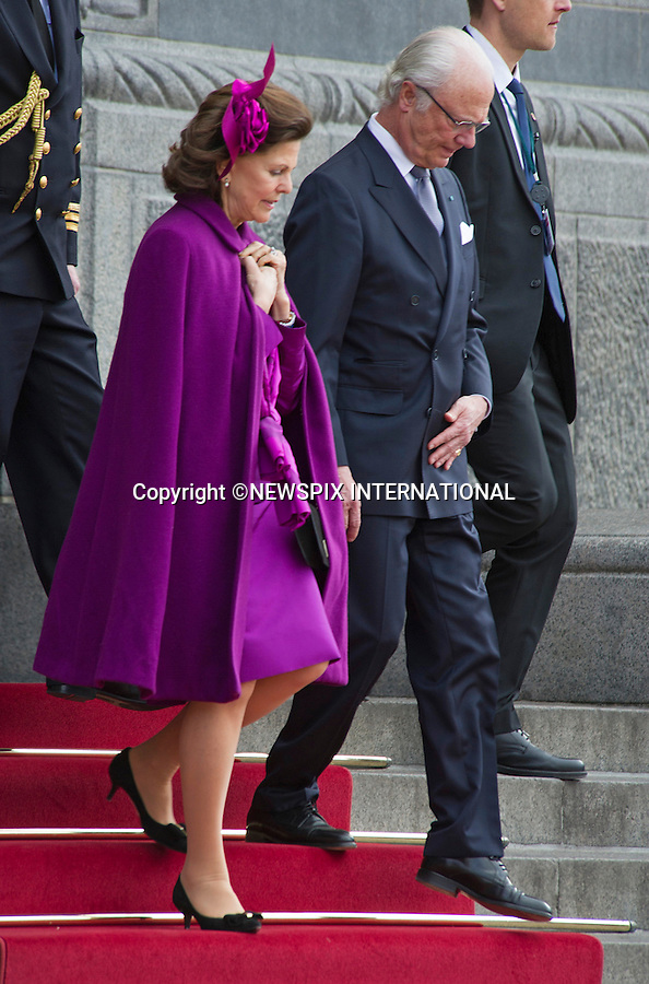 16.04.2015; Copenhagen; Denmark: KING CARL GUSTAF AND QUEEN SILVIA<br /> attend Queen Margrethe&rsquo;s 75th Birthday Lunch at the City Hall.<br /> MANDATORY PHOTO CREDIT: &copy;Francis Dias/NEWSPIX INTERNATIONAL<br /> <br /> (Failure to credit will incur a surcharge of 100% of reproduction fees)<br /> <br /> **ALL FEES PAYABLE TO: &quot;NEWSPIX  INTERNATIONAL&quot;**<br /> <br /> Newspix International, 31 Chinnery Hill, Bishop's Stortford, ENGLAND CM23 3PS<br /> Tel:+441279 324672<br /> Fax: +441279656877<br /> Mobile:  07775681153<br /> e-mail: info@newspixinternational.co.uk