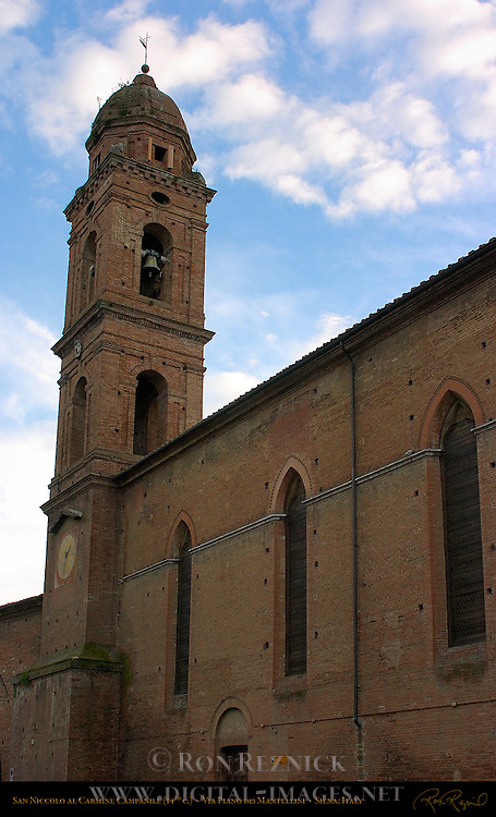 San Niccolo al Carmine, 14th c. Carmelite Church, Via Piano dei Mantelli, Siena, Italy