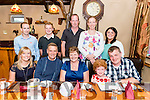 Deborah Curran Listry celebrated her 60th birthday with front l-r Angela, Denis, Sinead and Anthony Curran, back l-r Eamon O'Connor, Christopher Curran, Jonathan Foley, Christine Foley and and Fiona Foley in the Beaufort Bar last Saturday night