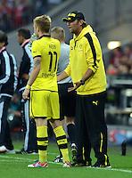 FUSSBALL   1. BUNDESLIGA   SAISON 2012/2013   SUPERCUP FC Bayern Muenchen - Borussia Dortmund            12.08.2012 Marco Reuss und Trainer Juergen Klopp (v. li., Borussia Dortmund)