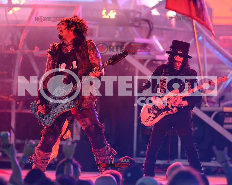 ALBUQUERQUE NM - AUGUST 7:  Nikki Sixx and Mick Mars of Motley Crue perform at the Hard Rock Casino Albuquerque on August 7, 2012 in Albuquerque, New Mexico. Credit: MediaPunch Inc.