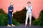 Designers Juan Carlos Fernandez and Antonio Burillo walks the runway at the 'The 2nd Skin Co' catwalk during the Mercedes-Benz Madrid Fashion Week Spring/Summer in Madrid, Spain. July 09, 2018. (ALTERPHOTOS/Borja B.Hojas)