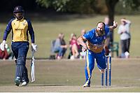 J Curtis in action for Upminster during Upminster CC vs Essex CCC, Benefit Match Cricket at Upminster Park on 8th September 2019
