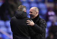 25th January 2020; Madejski Stadium, Reading, Berkshire, England; English FA Cup Football, Reading versus Cardiff City; Neil Harris Manager of Cardiff City and Mark Bowen Manager of Reading embrace after the match