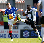 25.08.2019 St Mirren v Rangers: Steven Davis and Junior Morias