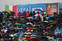 banner Women's EURO 2021 and public in the rain<br /> Castel di Sangro 12-11-2019 Stadio Teofolo Patini <br /> Football UEFA Women's EURO 2021 <br /> Qualifying round - Group B <br /> Italy - Malta<br /> Photo Cesare Purini / Insidefoto