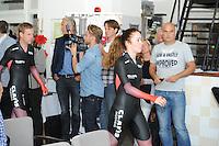 SCHAATSEN: HEERENVEEN: 23-09-2014, Perspresentatie Team Clafis, ©foto Martin de Jong