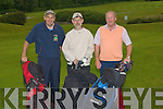 MEMBERS: Members of Ballyheigue playing in the Co Kerry Federation of Golf Club Competition at Ballyheigue on Saturday l-r: John Leen, Richard O'Reilly and John Barrett.....