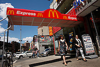 07/23/2015. A McDonald's restaurant it's seen in the Greenwich Village neighbor in New York City. The state fast food workers' wages will eventually rise to $15 (£9.60) an hour. Kena Betancur/VIEWpress