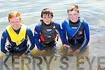 Swim: Fergal O Nualain,Niall O'Mahoney and Darragh O Nuallain who enjoyed the Open Day in Fenit on Sunday........