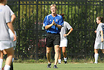 24 August 2008: Duke associate coach Billy Lesesne. The Duke University Blue Devils defeated the Coastal Carolina University Lady Chanticleers 9-0 at Koskinen Stadium in Durham, North Carolina in an NCAA Division I Women's college soccer game.