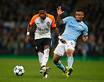 Fred of Shaktar Donetsk and Gabriel Jesus of Manchester City  during the Champions League Group F match at the Emirates Stadium, Manchester. Picture date: September 26th 2017. Picture credit should read: Andrew Yates/Sportimage