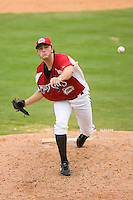 Starting pitcher Alexander Smit #26 of the Carolina Mudcats in action versus the Birmingham Barons at Five County Stadium August 16, 2009 in Zebulon, North Carolina. (Photo by Brian Westerholt / Four Seam Images)