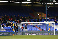 Fleetwood Town fans during the Sky Bet League 1 match between Oldham Athletic and Fleetwood Town at Boundary Park, Oldham, England on 26 December 2017. Photo by Juel Miah / PRiME Media Images.