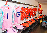 Away changing room ahead of the Pre Season Friendly match between Maidenhead United and Wycombe Wanderers at York Road, Maidenhead, England on 28 July 2017. Photo by Andy Rowland.