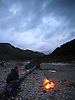 Enjoying a camp fire in the Ystwyth valley about 12 miles inland from Aberystwyth. The river is low and it is a beautiful place to spend the evening.<br />