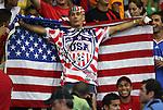 06 September 2008: A U.S. fan. The United States Men's National Team defeated the Cuba Men's National Team 1-0 at Estadio Nacional de Futbol Pedro Marrero in Havana, Cuba in a CONCACAF semifinal round FIFA 2010 South Africa World Cup Qualifier.