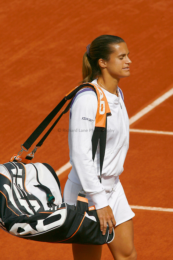 Photo: Iconsport/Richard Lane Photography..French Open, Roland Garros 2007. 31/05/2007..Amelie Mauresmo.