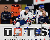 Lubomir Baka, Michal Korenko (Lewiston Maineiacs - Slovakia), NAME, Dusan Culka - The Suisse defeated Slovakia 2-1 in a 2007 World Juniors match on January 2, 2007, at FM Mattson Arena in Mora, Sweden.