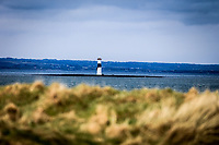 The Lighthouse from the 13th tee during the 3rd round of matchplay at the 2018 West of Ireland, in Co Sligo Golf Club, Rosses Point, Sligo, Co Sligo, Ireland. 02/04/2018.<br /> Picture: Golffile | Fran Caffrey<br /> <br /> <br /> All photo usage must carry mandatory copyright credit (&copy; Golffile | Fran Caffrey)