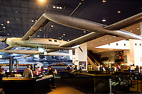 Burt Rutans Voyager circumnavigating the World on one tank in the smithsonean museum in Washington DC, USA