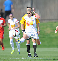 Boyds MD - April 13, 2014:  McCall Zerboni (7) of the Western New York Flash. The Western New York Flash defeated the Washington Spirit 3-1 in the opening game of the 2014 season of the National Women's Soccer League at the Maryland SoccerPlex.
