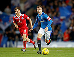 Andy Halliday takes the ball forward from midfield