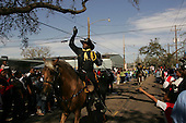New Orleans, Louisiana.February 28, 2006..Zulu parades in New Orleans for Mardi Gras.