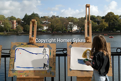 Made in Roath Arts Festival 2014. Cardiff Wales. Paint the Lake. Roath lake.