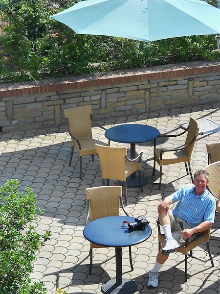 John at the Hotel Sirio in Ivrea, Italy.